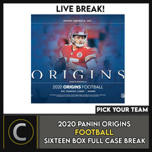 Load image into Gallery viewer, 2020 PANINI ORIGINS FOOTBALL 16 BOX (FULL CASE) BREAK #F545 - PICK YOUR TEAM