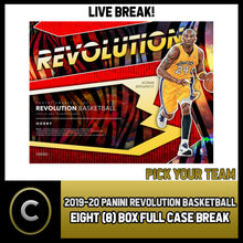Load image into Gallery viewer, 2019-20 PANINI REVOLUTION 8 BOX (FULL CASE) BREAK #B535 - PICK YOUR TEAM
