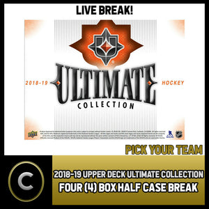 2018-19 UPPER DECK ULTIMATE COLLECTION 4 BOX BREAK #H820 - PICK YOUR TEAM
