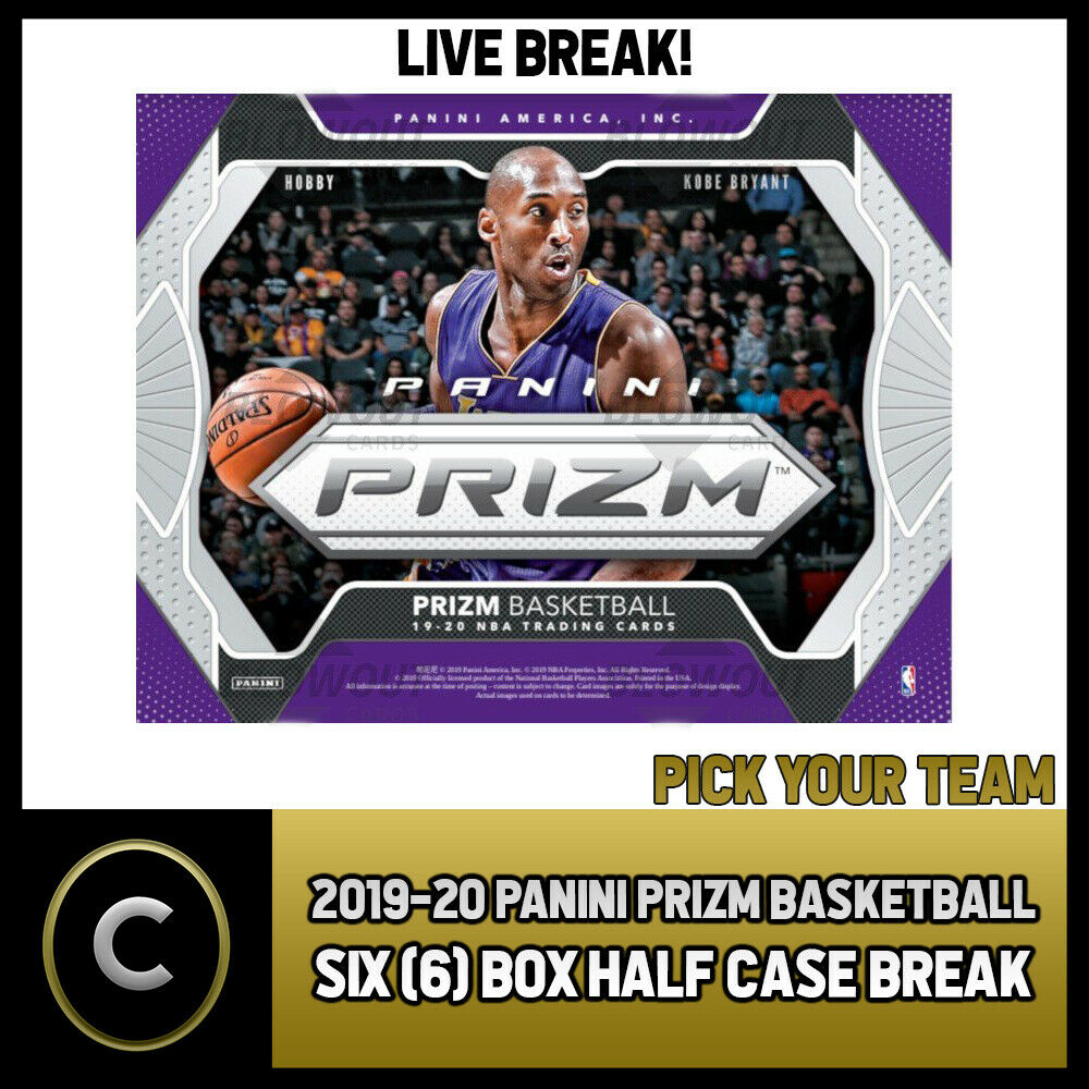 2019-20 PANINI PRIZM BASKETBALL 6 BOX HALF CASE BREAK #B354 - PICK YOUR TEAM