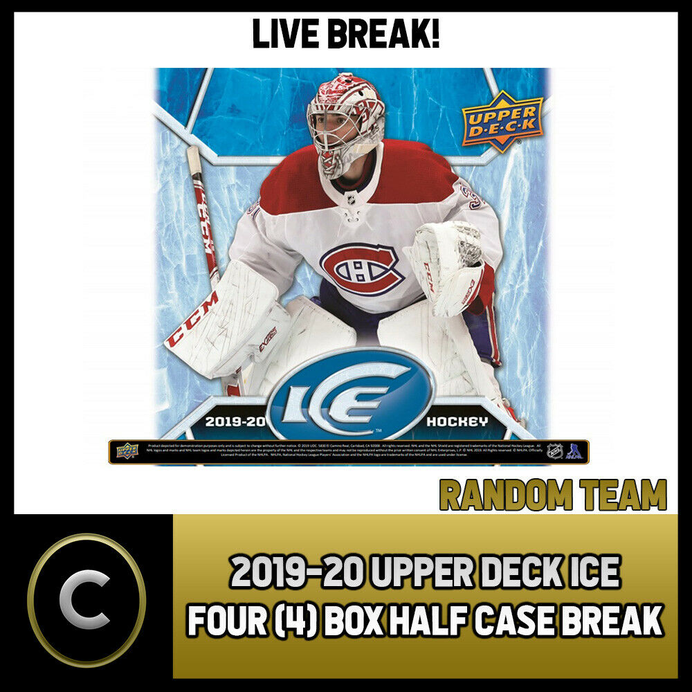 2019-20 UPPER DECK ICE HOCKEY 4 BOX (HALF CASE) BREAK #H957 - RANDOM TEAMS