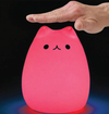 Color Changing LED Cat Night Light - Cute Battery Operated Portable Kitty Lamp - Tap On/Off