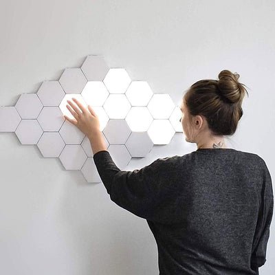 Newest Creative Led Quantum Lamp Modular Touch Sensitive Lighting Night Magnetic Hexagons Wall Lamp