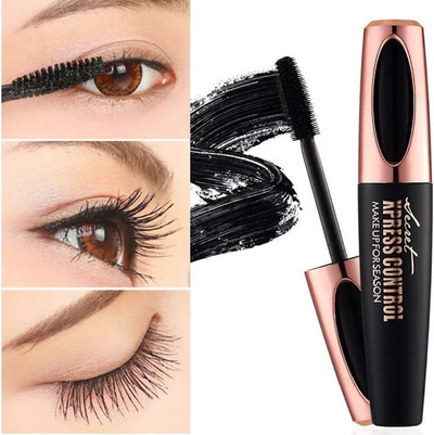 4D Silk Fiber Eyelash Mascara Extension Makeup Black Waterproof Eye Lashes