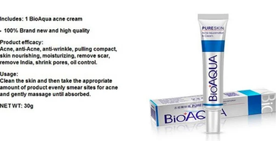 BIOAQUA Face Skin Care Acne Treatment Removal Cream Spots Scar Blemish Marks