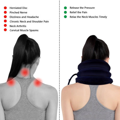 Expandable Pain Relief Neck Tension Air Collar