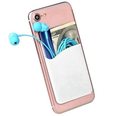 Stick On Silicone Adhesive Card Holder Phone Pocket