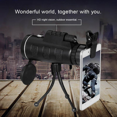 High Power Magnification Monocular Telescope