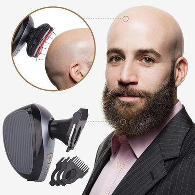 Waterproof Electric Head Shaver For Men