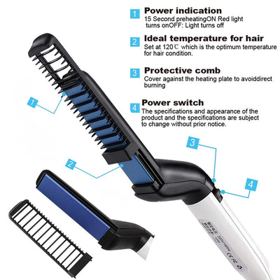 Multifunctional Electric Beard Comb For Men