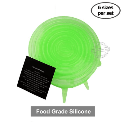 Stretch and Seal - Set of 12 Silicone Food Saver Covers