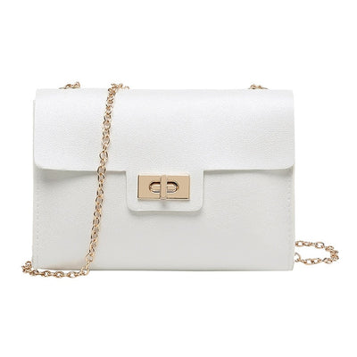 Simple Small Square Crossbody Bag Women's Designer Handbag High-quality PU Leather Chain Mobile Phone Shoulder bags