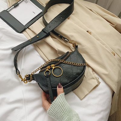 Fashion Quality PU Leather Crossbody Bags For Women Chain Small Shoulder Messenger Travel Handbags and Purses
