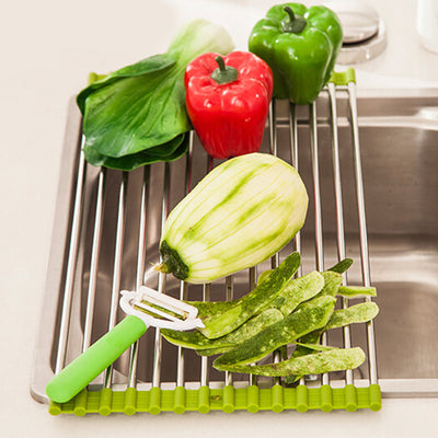 Stainless Steel Roll-Up Drying Rack