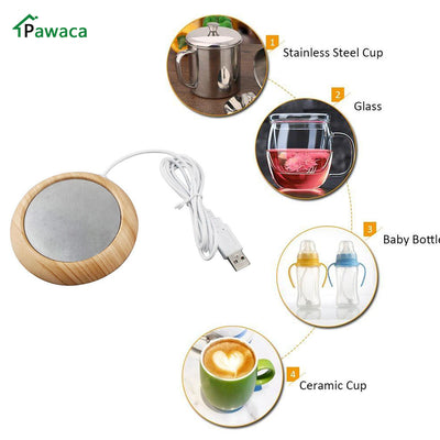 USB Wooden Cup Warmer