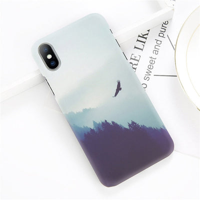 Starry Sky Moon Ultra Thin Phone Case For iPhone