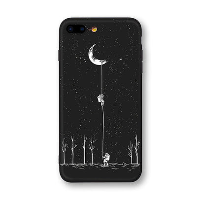 Newest Space Moon Astronaut Phone Cases For iphone