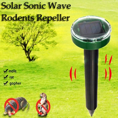 Pest Control Solar Powered Outdoor Ultrasonic Repeller For Mouse, Rat, Mosquito, Snake, Bird, Mole