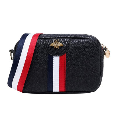 Women's Casual Rectangle Shape Mini Portable Crossbody Bag PU Leather Phone Bag