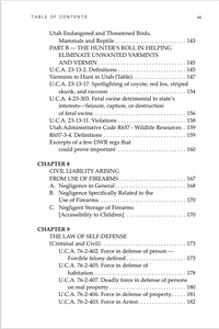 Utah Gun Law: 5th Edition Table of Contents 3