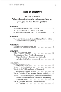 Utah Gun Law: 5th Edition Table of Contents 1