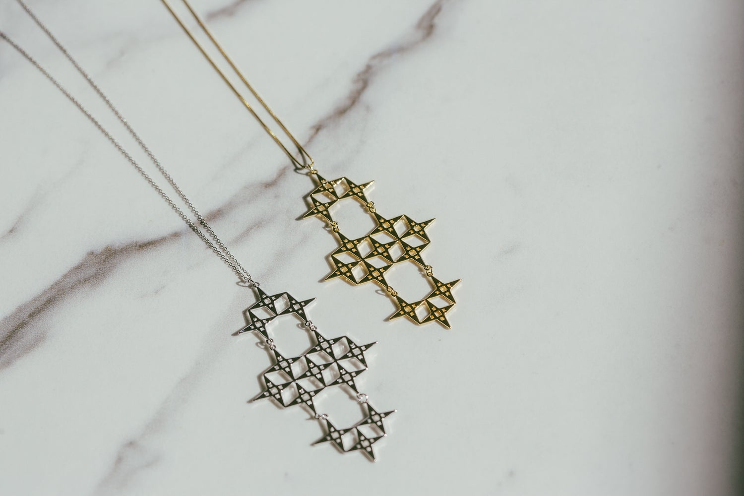 Chaos North Star Necklace Silver