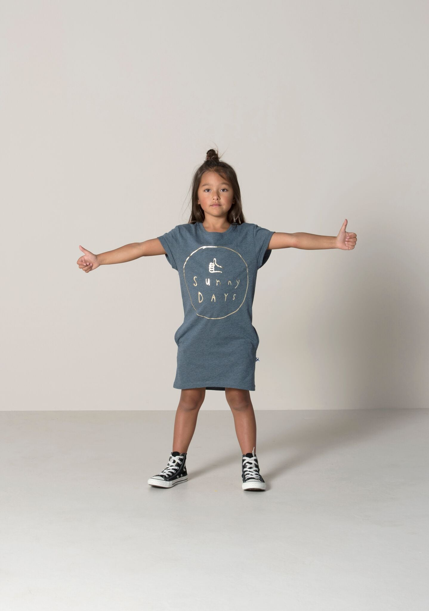 Sunny Days Rolled Up Tee Dress