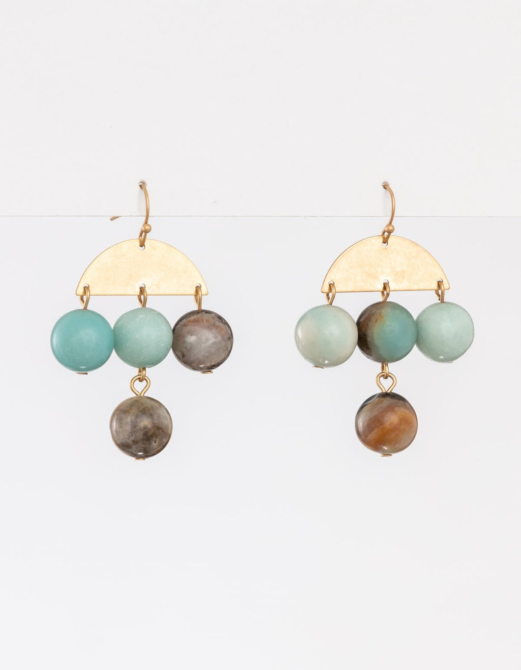 Earring Beads Grey Chandelier