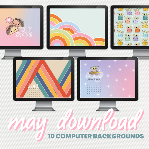 May Backgrounds & Wallpapers (10-Pack)