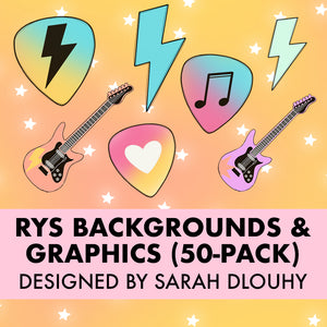 Rock Your School Graphics & Backgrounds (50-Pack)