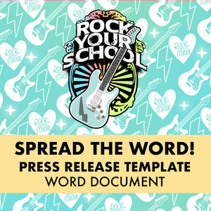 Rock Your School Press Release Template