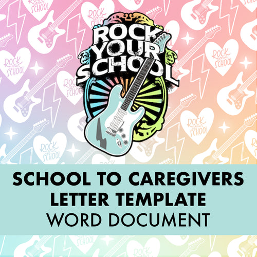 Rock Your School Caregiver Letter Template