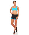 Shorts Sole 2 in 1 Black with Blue Sky Front View