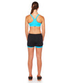 Shorts Sole 2 in 1 Black with Blue Sky Back View