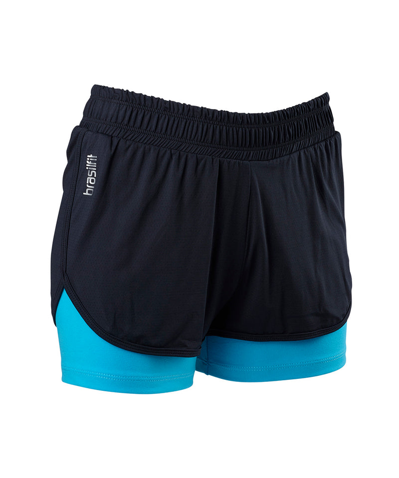Shorts Sole 2 in 1 Black with Blue Sky
