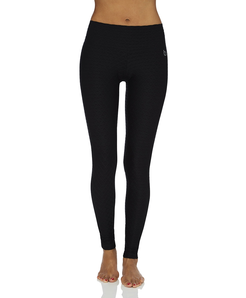 Legging Full-Length Wallpaper Black