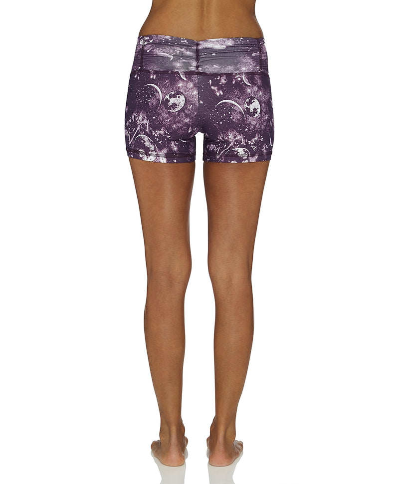Half Moon Crazy Print Shorts