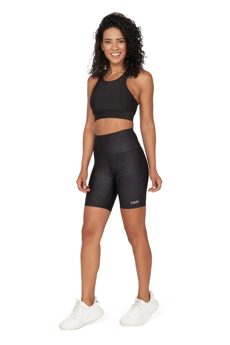 Python High Waisted Bike Shorts