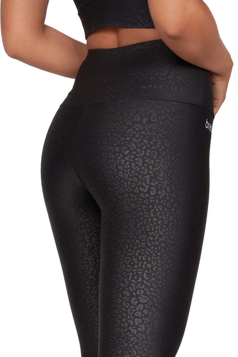 Alice Black High Waisted Mid Calf Legging