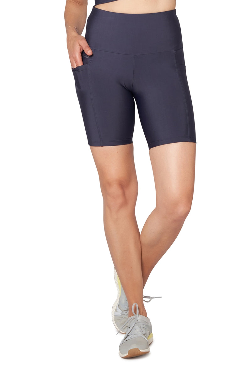 High Waisted Bike Shorts with Pockets