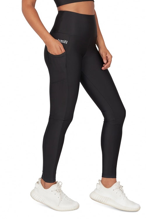 High Waisted Full Length Legging with Pockets
