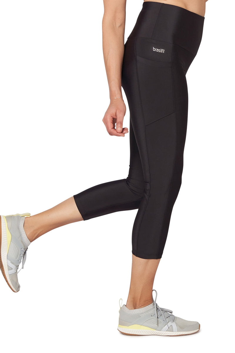 High Waisted Mid Calf Legging with Pockets