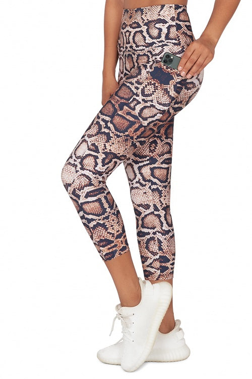 Morana High Waisted  Mid Calf Legging with Pockets