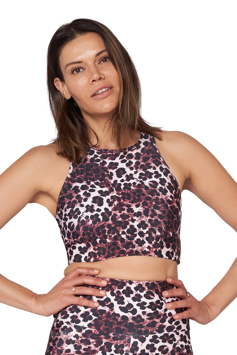 Pink Cheetah Crop Top