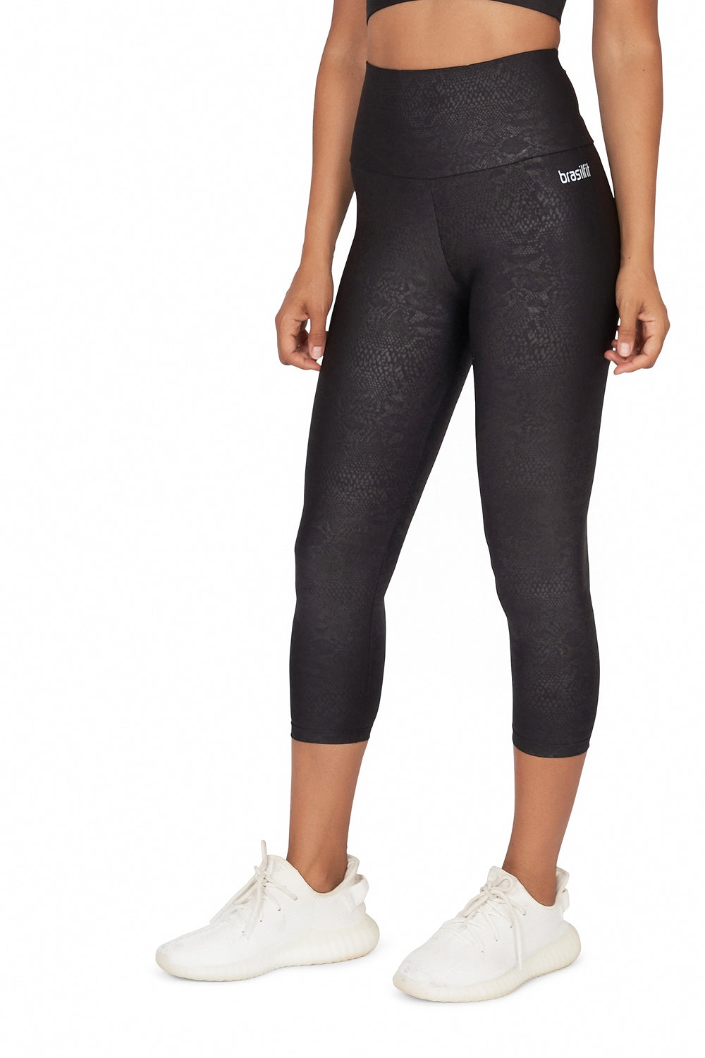 Python High Waisted  Mid Calf Legging