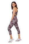 Pink Cheetah High Waisted  Mid Calf Legging