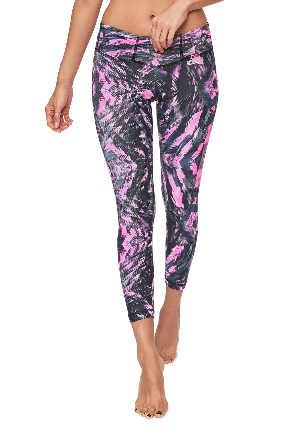 Pink Crystal Mid Calf Legging