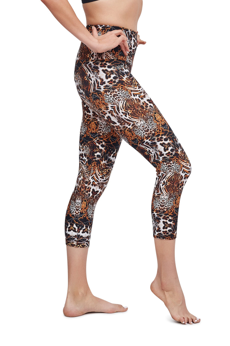 Animal Kingdom High Waisted Mid Calf Legging