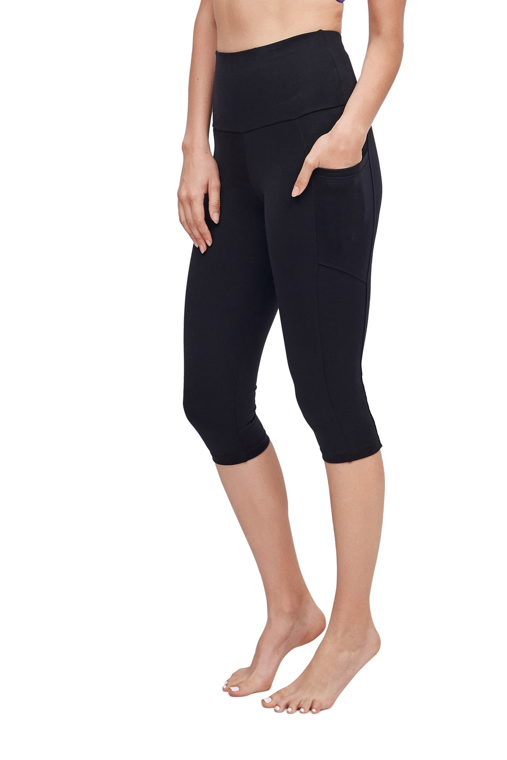 High-Waisted Supplex Under Knee with Pockets