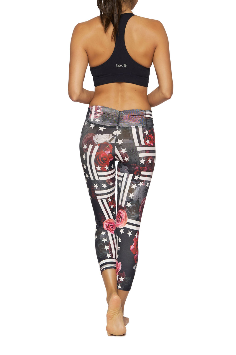 Battle of Roses Mid Calf Legging